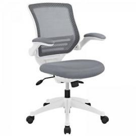Edge EEI-596 Gray Mesh and White Base Office Chair