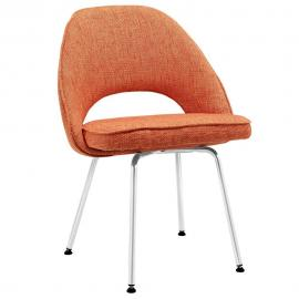 Cordelia EEI-622-ORA Mid Century Modern Orange Dining Side Chair
