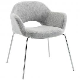 Cordelia EEI-623-LGR Mid Century Modern Grey Dining Arm Chair