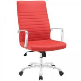 Finesse EEI1061 Highback Red Leatherette Office Chair