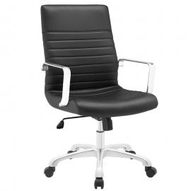 Finesse EEI1534 Midback Black Leatherette Office Chair