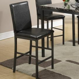 Poundex F1016 Faux Leather Counter Height Chair Set of 2