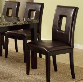 Poundex F1051 Dark Brown Dining Chair Set of 2