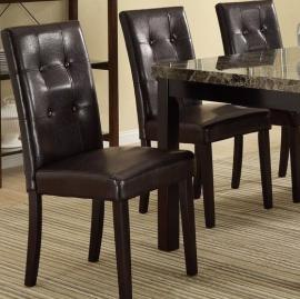 Poundex F1078 Dark Brown Dining Chair Set of 2