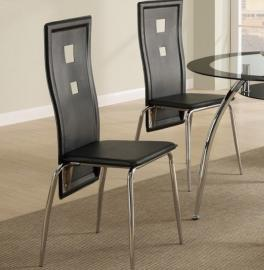 Poundex F1273 Bold Black Dining Chair Set of 2