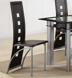 Poundex F1274 Black Dining Chair Set of 2