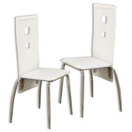 Poundex F1276 White Dining Chair Set of 2