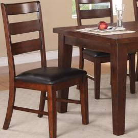 Poundex F1283 Antique Walnut Dining Chair Set of 2