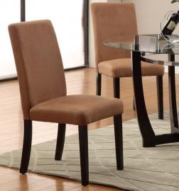 Poundex F1301 Saddle Dining Chair Set of 2