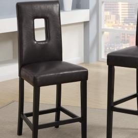 Poundex F1321 Dark Brown Counter Height Chair Set of 2