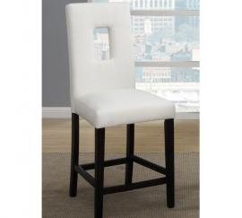 Poundex F1322 Dark Brown Counter Height Chair Set of 2