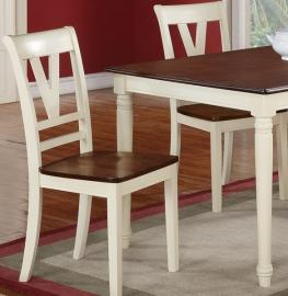 Poundex F1351 Off White Dining Chair Set of 2