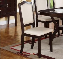 Poundex F1358 Dark Brown Dining Chair Set of 2