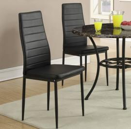 Poundex F1366 Black Dining Chair Set of 2