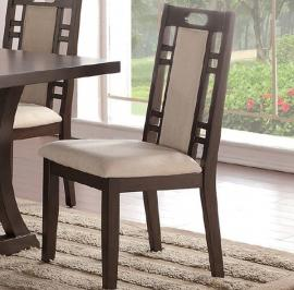 Poundex F1380 Ebony Brown Finish Dining Chair Set of 2