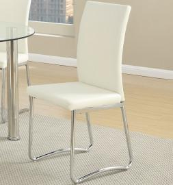 Poundex F1438 Contemporary White Finish Dining Chair Set of 2