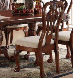 Poundex F1487 Cherry Dining Chair Set of 2