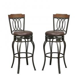 Poundex F1523 Transtional Bar Height Chair Set of 2