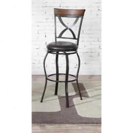 Poundex F1535 Bronze Transtional Bar Height Chair Set of 2
