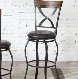 Poundex F1536 Bronze Transtional Bar Height Chair Set of 2