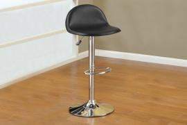 Poundex F1552 Black Contemporary Bar Height Chair Set of 2