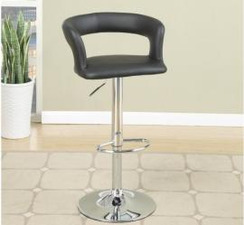 Poundex F1555 Black Contemporary Bar Height Chair Set of 2