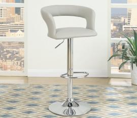 Poundex F1556 Grey Contemporary Bar Height Chair Set of 2