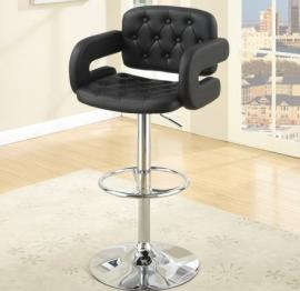 Poundex F1561 Black Contemporary Bar Height Chair