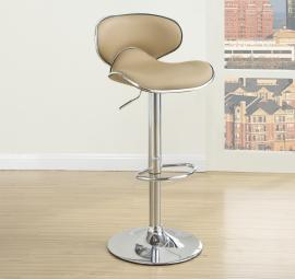 Poundex F1564 Brown Contemporary Bar Height Chair Set of 2
