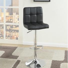 Poundex F1565 Black Contemporary Bar Height Chair Set of 2