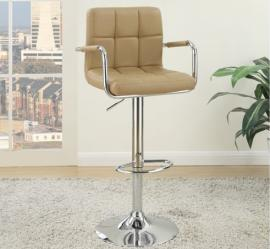 Poundex F1568 Brown Contemporary Bar Height Chair Set of 2