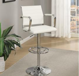 Poundex F1576 White Contemporary Bar Height Chair Set of 2