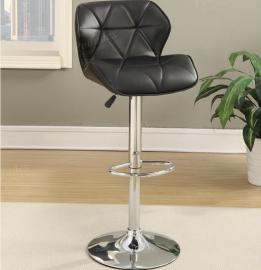 Poundex F1588 Black Contemporary Bar Height Chair Set of 2