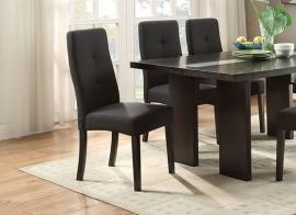 Poundex F1589 Black Fabric Dining Chair Set of 2