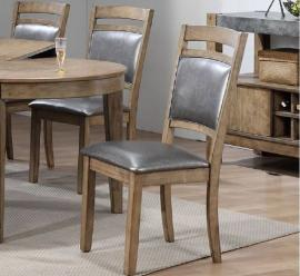 Poundex F1711 Rustic Wood Dining Chair Set of 2