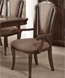 Poundex F1738 Traditional Cherry Finish Dining Arm Chair Set of 2