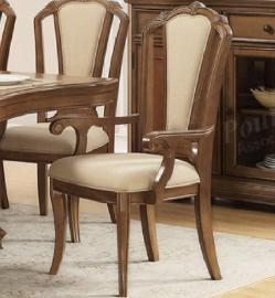 Poundex F1742 Traditional Cherry Finish Dining Arm Chair Set of 2
