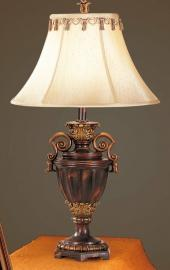 Poundex F5204 Antiqued Resin Table Lamp Set of 2