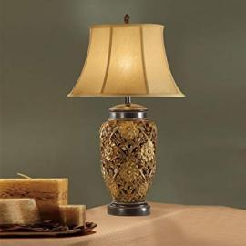 Poundex F5219 Lux Gold Lamp set of 2