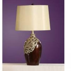 Poundex F5293 Traditional Table Lamp Set of Two
