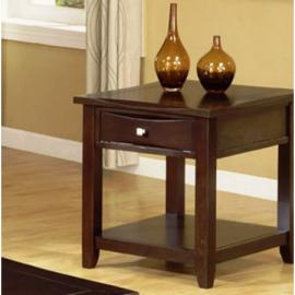Poundex F6222 Dark Brown End Table