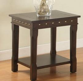 Poundex F6317 Gold Studded End Table
