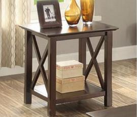 Poundex F6340 Brown Wood End Table