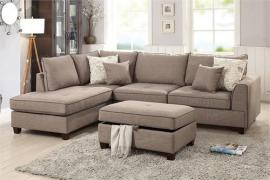 June Collection F6544 Reversible Mocha Sectional
