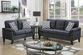 Aang F6905 2-Pc Blue Grey Sofa Set