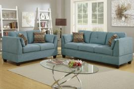 Circy F6918 Hydra Blue Sofa and Loveseat