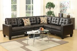 Gypsy II F6939 Espresso Bonded Leather Sectional