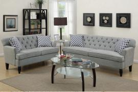 Dotty F6940 Taupe Velveteen Sofa and Loveseat