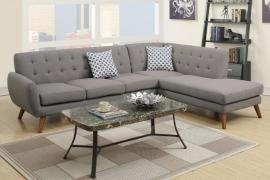 Ely F6953 Polyfiber Modern Grey Sectional