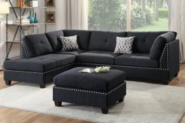 Garbrandt F6974 Black Reversible Sectional With Ottoman